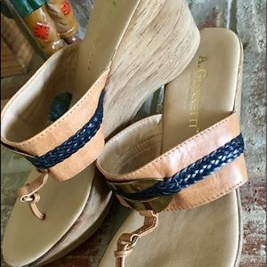 A. Giannetti leather sandal